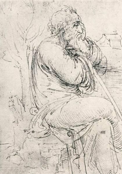 Leonardo da Vinci Seated old man